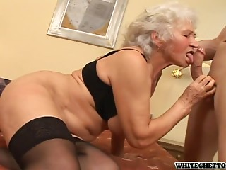 Excited Grandma Bonks a Younger Chap In a Perverted Clip!