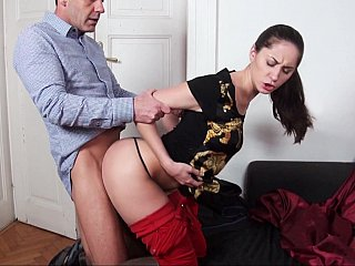 Euro hotty having dressed sex