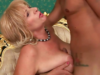 Horn made chunky mama in playful nylons acquires drilled missionary by youthful paramour