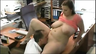 Drilling my Round Overweight Assistant at the office